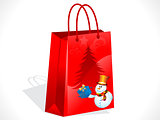 abstract christmas sale bag