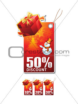 abstract christmas sale tag