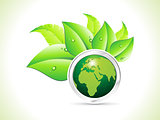 abstract eco globe background