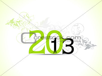 abstract new year text template