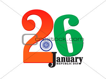 abstract republic day text
