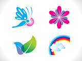 abstract spring icon template