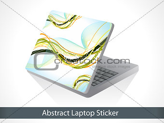 abstract wave based laptop sticker