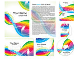 abstract wave corporate id template