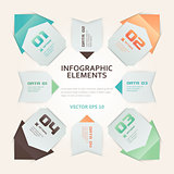 Modern Origami Style Infographic Illustration