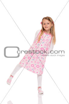 Full length portrait of a little girl