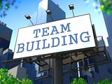 Team Building Concept on Billboard.