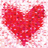 Seamless love pattern of geometric heart