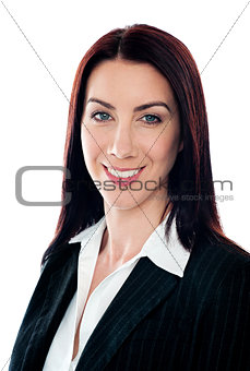 Closeup portrait of pretty businesswoman