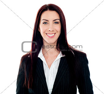 Smiling young female executive