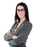 Successful corporate lady posing