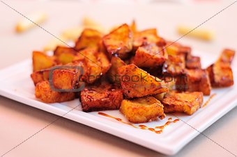 spanish berenjenas con miel de cana, fried eggplants with molass