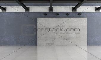 Modern empty grunge interior