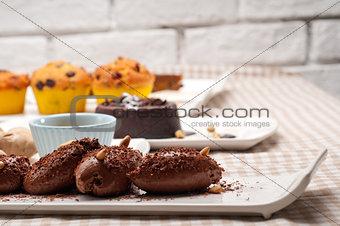 group of various dessert cake