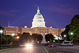 US Capitol in the night