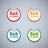 Back to school stickers set.