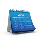 Desktop calendar for 2012 year