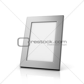Blank aluminum photo frame