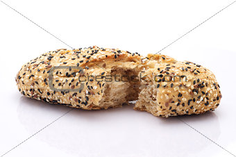 Broken bread roll