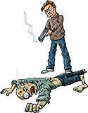 A survivor has killed a zombie