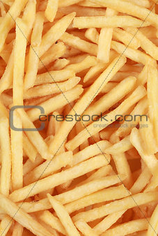 Background from fresh French fries