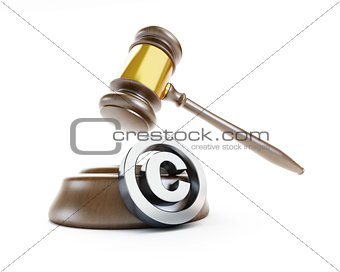 law copyright sign  on a white background