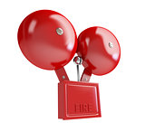 fire alarm 3d Illustrations on a white background
