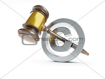 law copyright sign 3d Illustrations