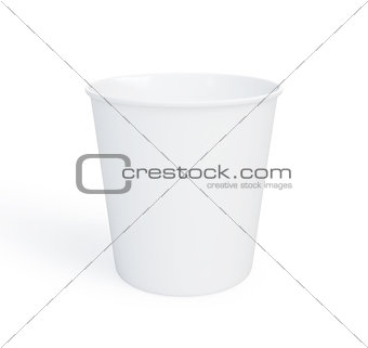 Food plastic container 3d Illustrations on a white background