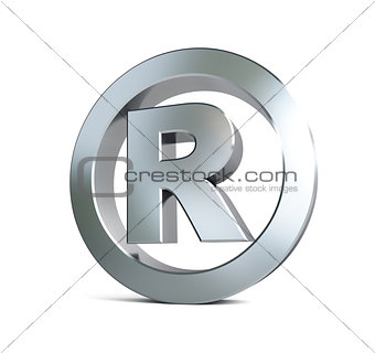 registered trademark sign 3d Illustrations on a white background