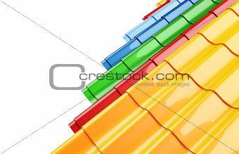 Color Metal Roof Tile on a white background