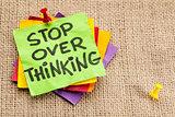stop overthinking reminder