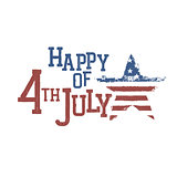 Typography for Fourth July Celebration. Vector, EPS10