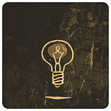 Grunge light bulb. Vector