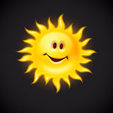 yellow sun with smiling face