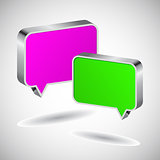 Set of 3D speech icon
