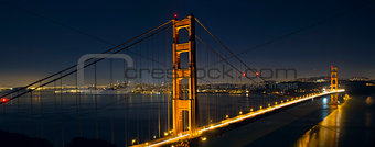Light Trails on San Francisco Golden Gate Bridge