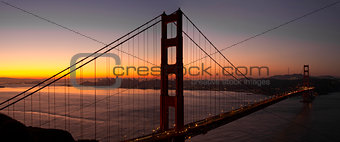 Sunrise Over San Francisco Golden Gate Bridge
