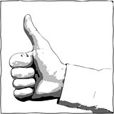 Hand with a thumb up gesture