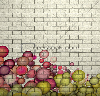 pink bubble pattern 3d mosaic tile brick wall