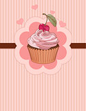 Beautiful cupcake place card