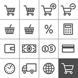 Shopping icons set - Simplines series