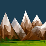 Mountainous terrain, polygonal background, vector Eps10 illustration.
