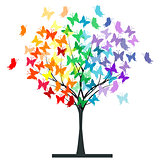 Butterflies rainbow tree