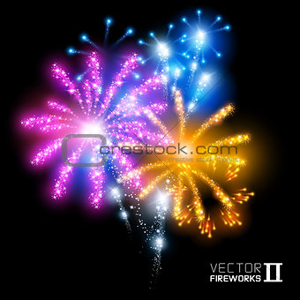 Wonderful Vector Fireworks
