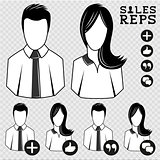 Sales Vector People