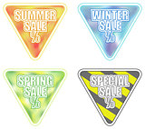 Set of Four Seasonal Sale Banners