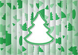 Abstract Background Christmas Tree Shape