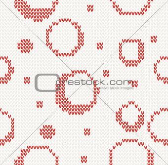 knitted seamless christmas pattern