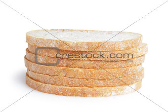 slices of fresh italian ciabatta bread
